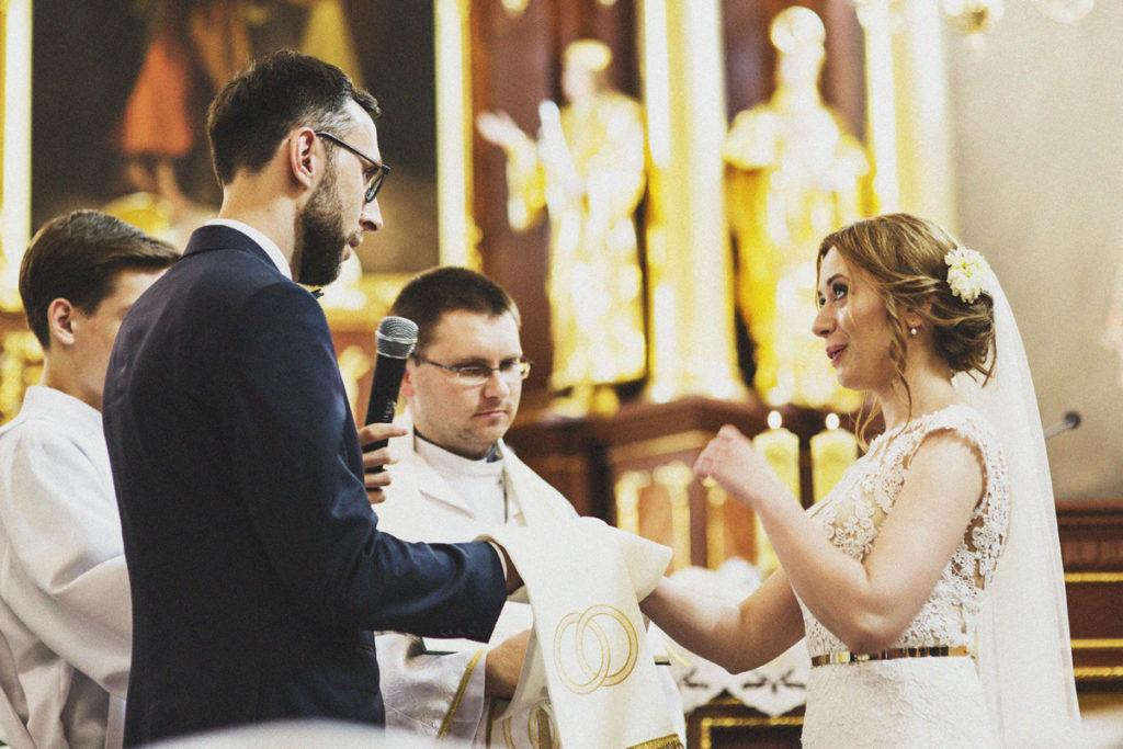 Ślub Kasi i Rafała. Przysięga